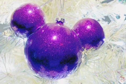Purple Mickey Head Disney Christmas Ornament