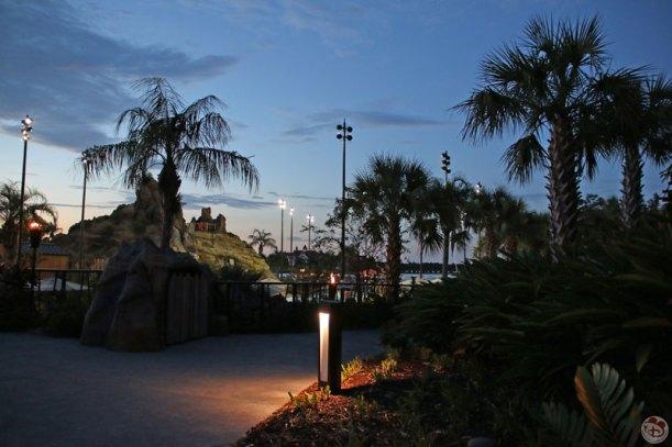 Disney's Polynesian Village Resort at night