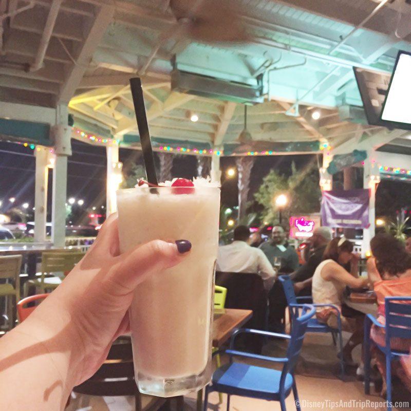 Dinner at Bahama Breeze - Virgin Piña Colada