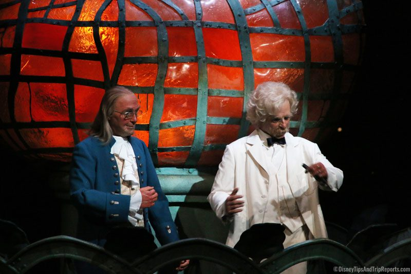 The American Adventure - Benjamin Franklin and Mark Twain