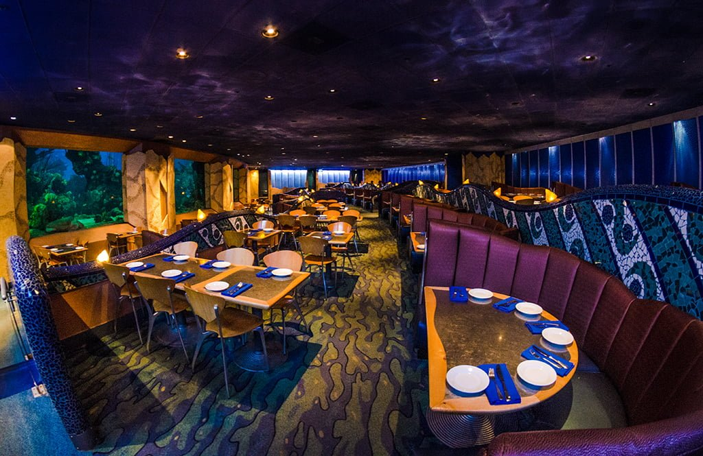 underwater restaurant disney world. Coral-reef-epcot-seating Underwater Restaurant Disney World