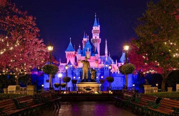 Disneyland Hub at Night