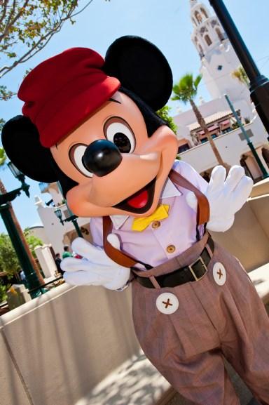 Buena Vista Street Mickey Mouse at Disney California Adventure