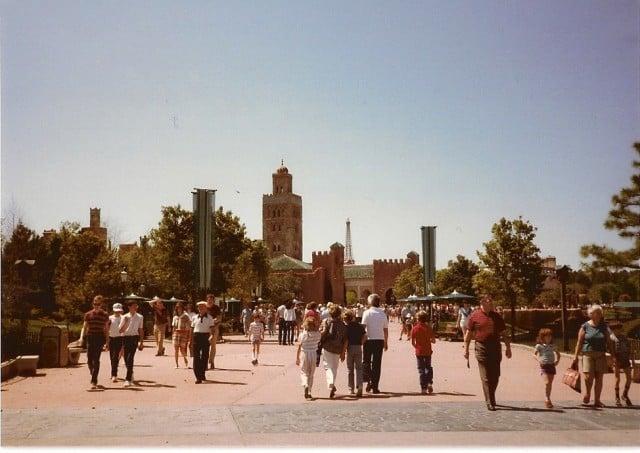 Epcot - Walking Towards Morocco - 3-24-1985 - Chad Erickson