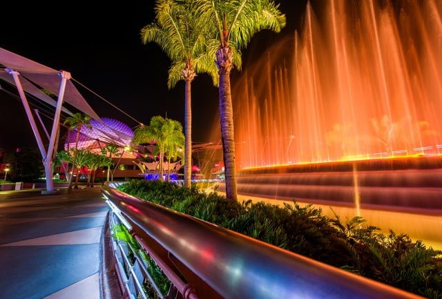 fountain-nations-night-epcot-spaceship-earth