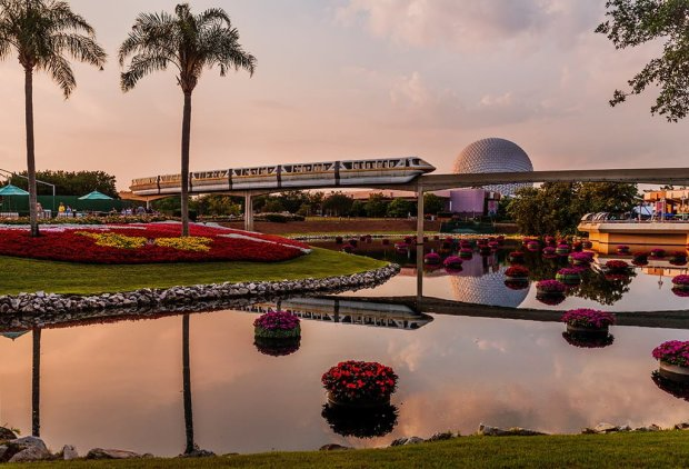 monorail-epcot-late-afternoon