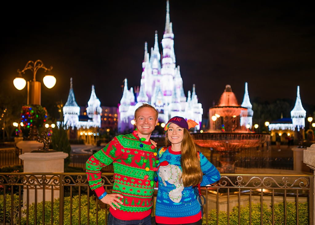 sarah tom bricker ugly christmas sweaters walt disney - When Does Disneyworld Decorate For Christmas
