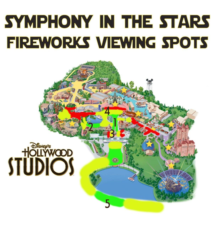 Best Disney\'s Hollywood Studios Fireworks Spots - Disney ...