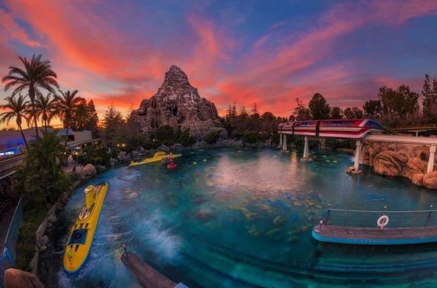 mermaid-lagoon-monorail-subs-sunset-bricker-disneyland