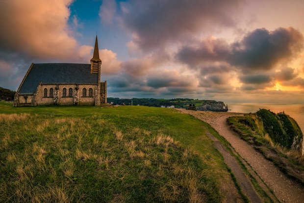 etretat-notre-dame-chapel-side-sunset-path-normandy-france-bricker