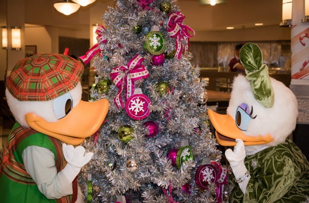 in terms of characters decked out for christmas the highlight is minnies holiday dine a holiday themed character meal at hollywood vine