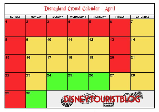 2019 Disneyland Crowd Calendar When To Visit Disney Tourist Blog