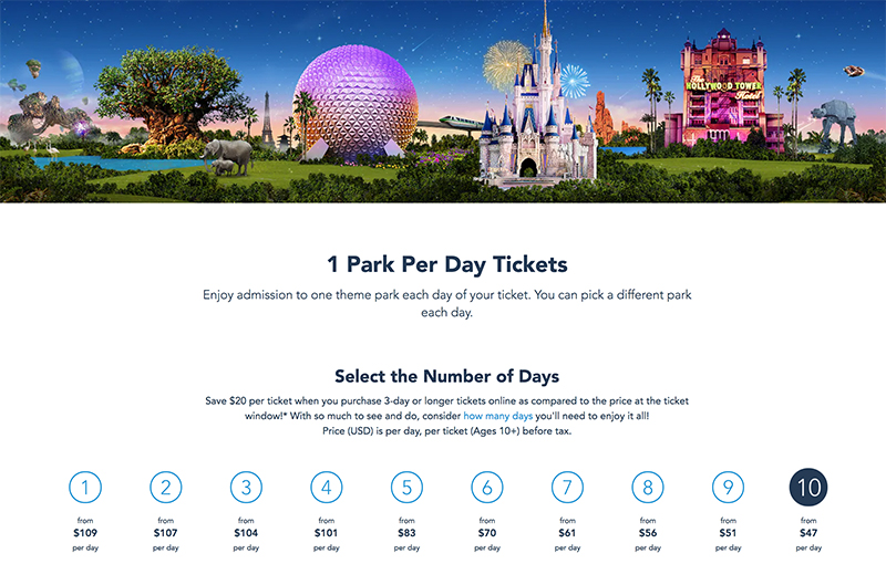 Disney World Ticket Prices Increase for Remainder of 2019 - Disney