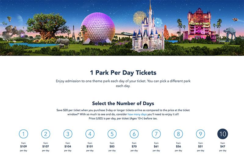 Disney World Ticket Prices Increase For Remainder Of 2019 Disney Tourist Blog