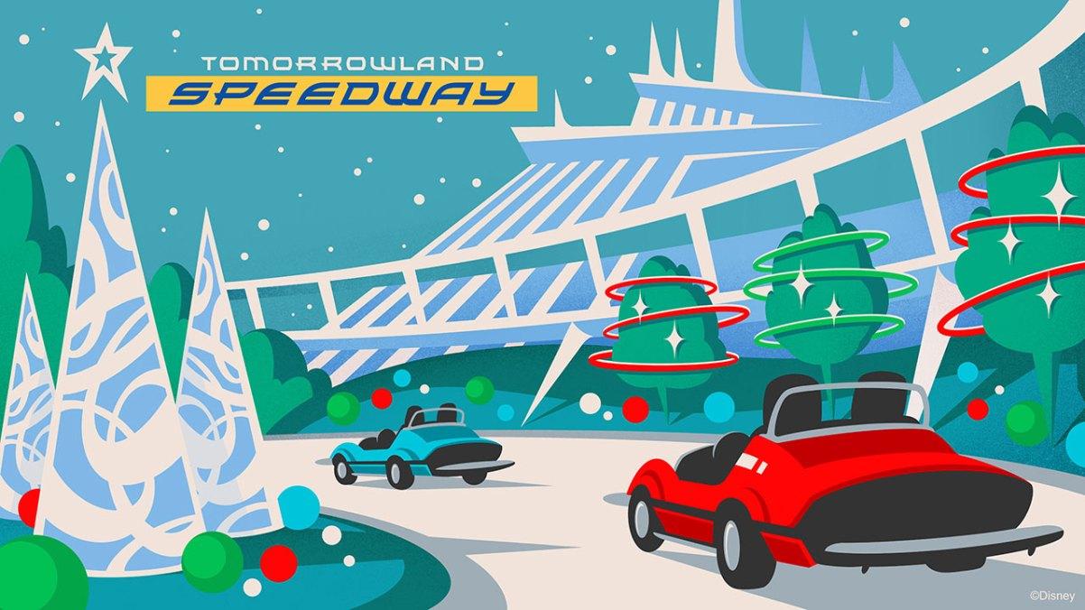 Halloween And Christmas.New Ride Overlays For Christmas Halloween At Disney World