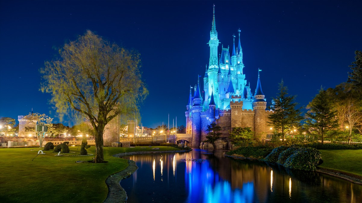 cinderella castle blue zoom wallpaper
