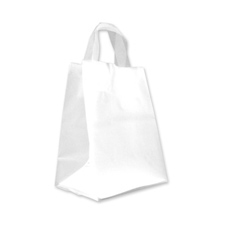 Small clear frosted bag with loop handle
