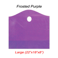 Large wave frosted purple bag