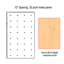 "12"" Spacing puck panel"