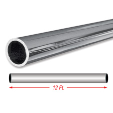 "12Ft. chrome 1 1/4"" round tubing"