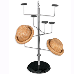 Spinning hat rack counter top model
