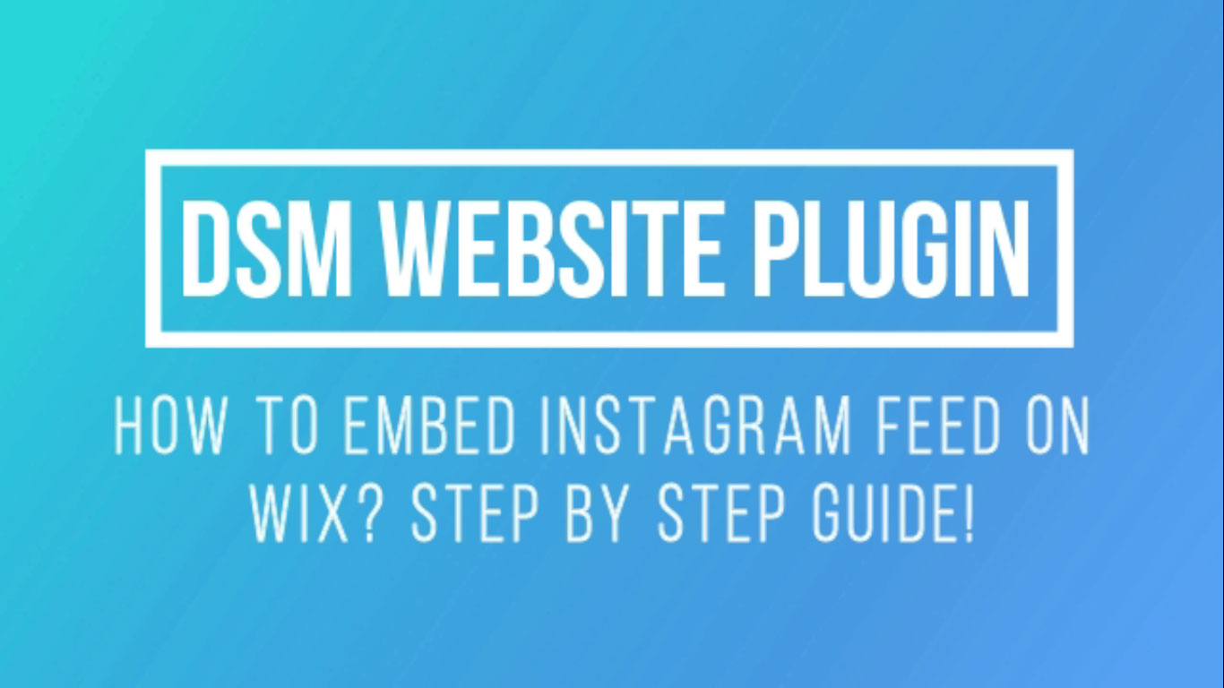 How to Embed Instagram Feed on Wix Website?
