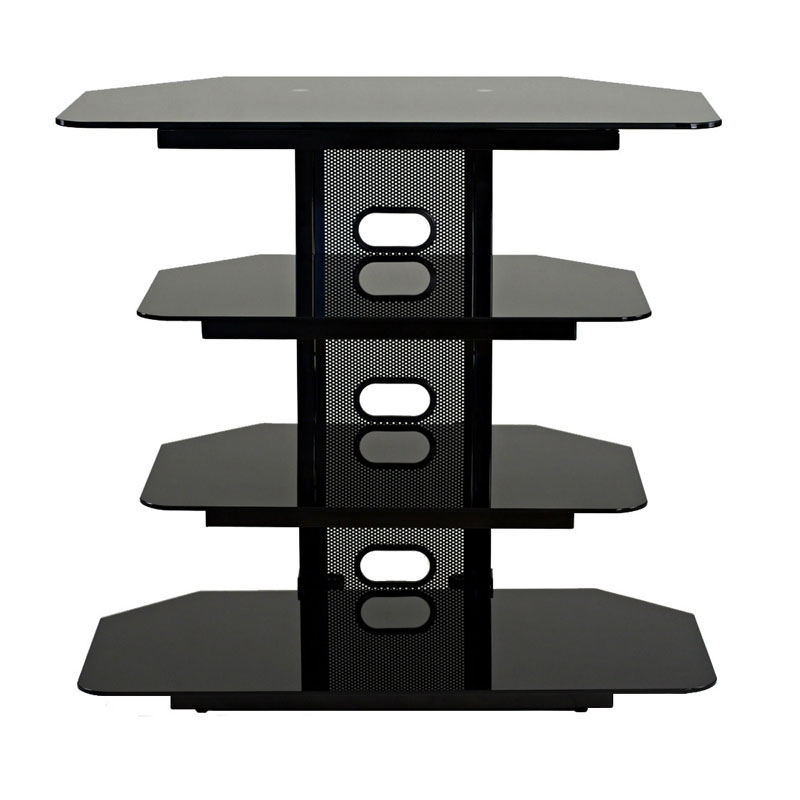 transdeco multifunction audio stand for 22 35 flat screen tvs black td510cb