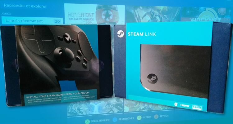 Package du Steam Link et Steam Controller
