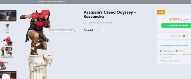 Promo-Printemps-Ubisoft-AssassinsCreed-Odyssey-Figurine-Kassandra
