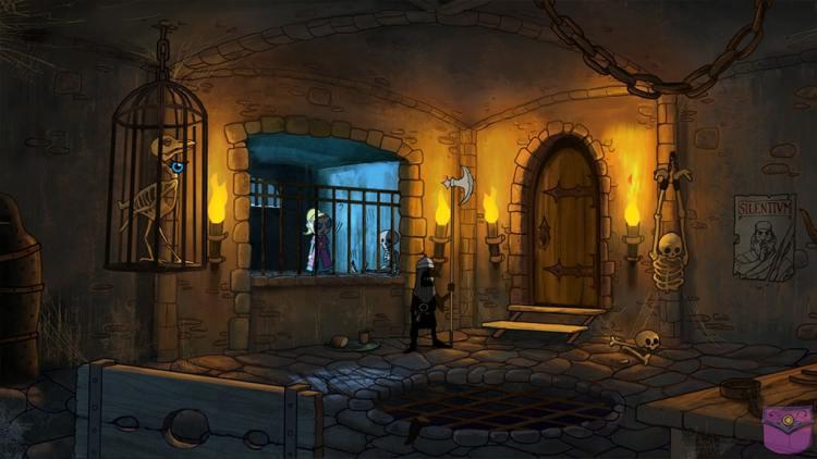 Tsioque dans le château en prison