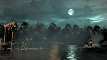 The Walking Dead Episode Final Clementine Affrontement sur le lac en pleine nuit