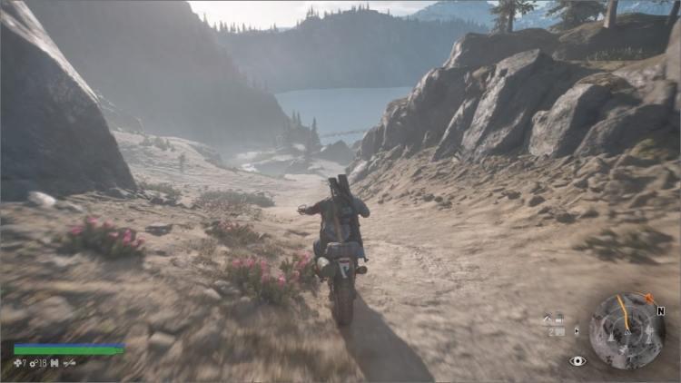 Moto lancé à pleine vitesse, Deacon découvre une nouvelle zone
