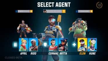 Agents Biohunters choix equipe 1