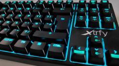 Clavier K4 Souris M4 Accessoire Gaming Xtrfy clavier retroeclairage bleu clair
