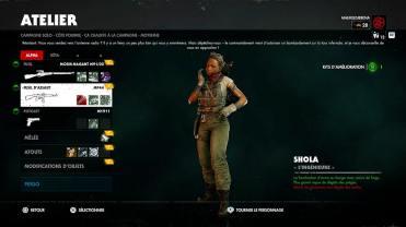Test Zombie Army 4 Dead War personnage présentation du menu