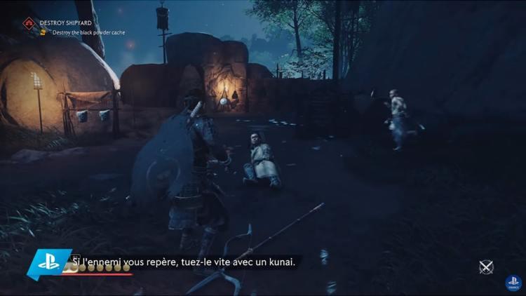 Ghost of Tsushima Jin inflige la peur