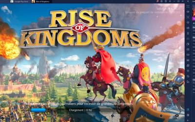 Rise of Kingdoms BlueStacks écran de démarrage