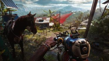 Far Cry 6 Cheval intrigué par un avion qui passe