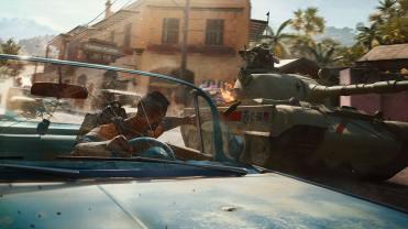Far Cry 6 En conduite, jette un molo sur un tank