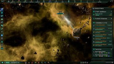 Stellaris_ Console Edition_un vaisseau scientifique en pleine reconnaissance de système