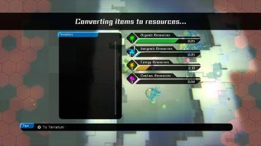 Void Terrarium Toriko, transformation des objets en ressources