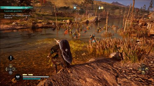 Assassin's Creed Valhalla PS5 Scene combat eau