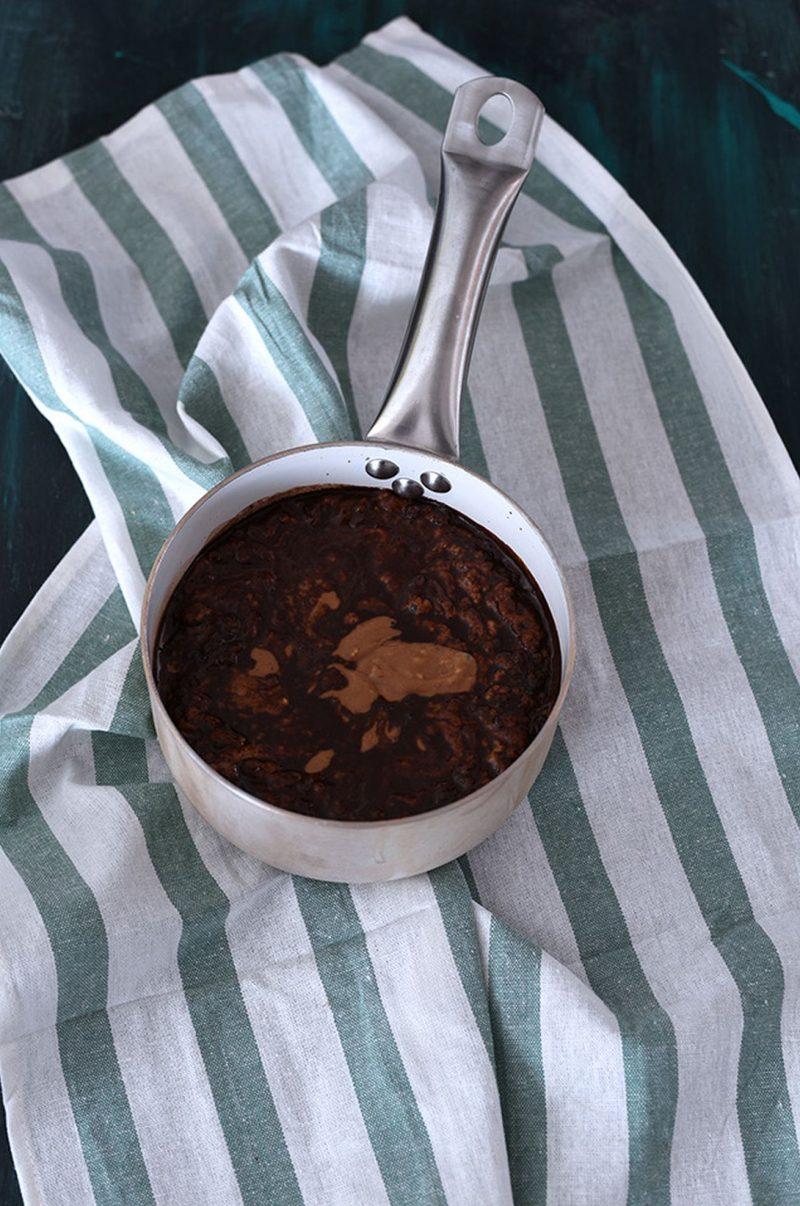pudding al cioccolato cottura
