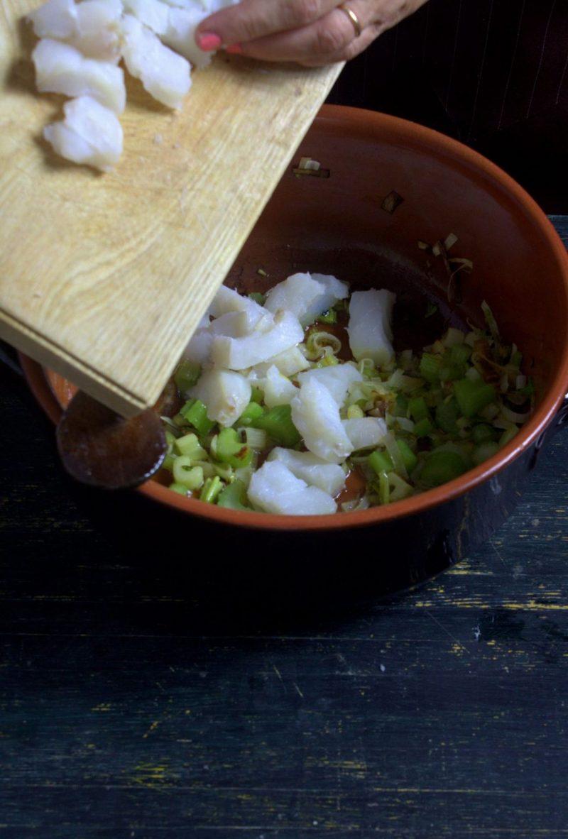 zuppa di baccalà e fagioli cottura