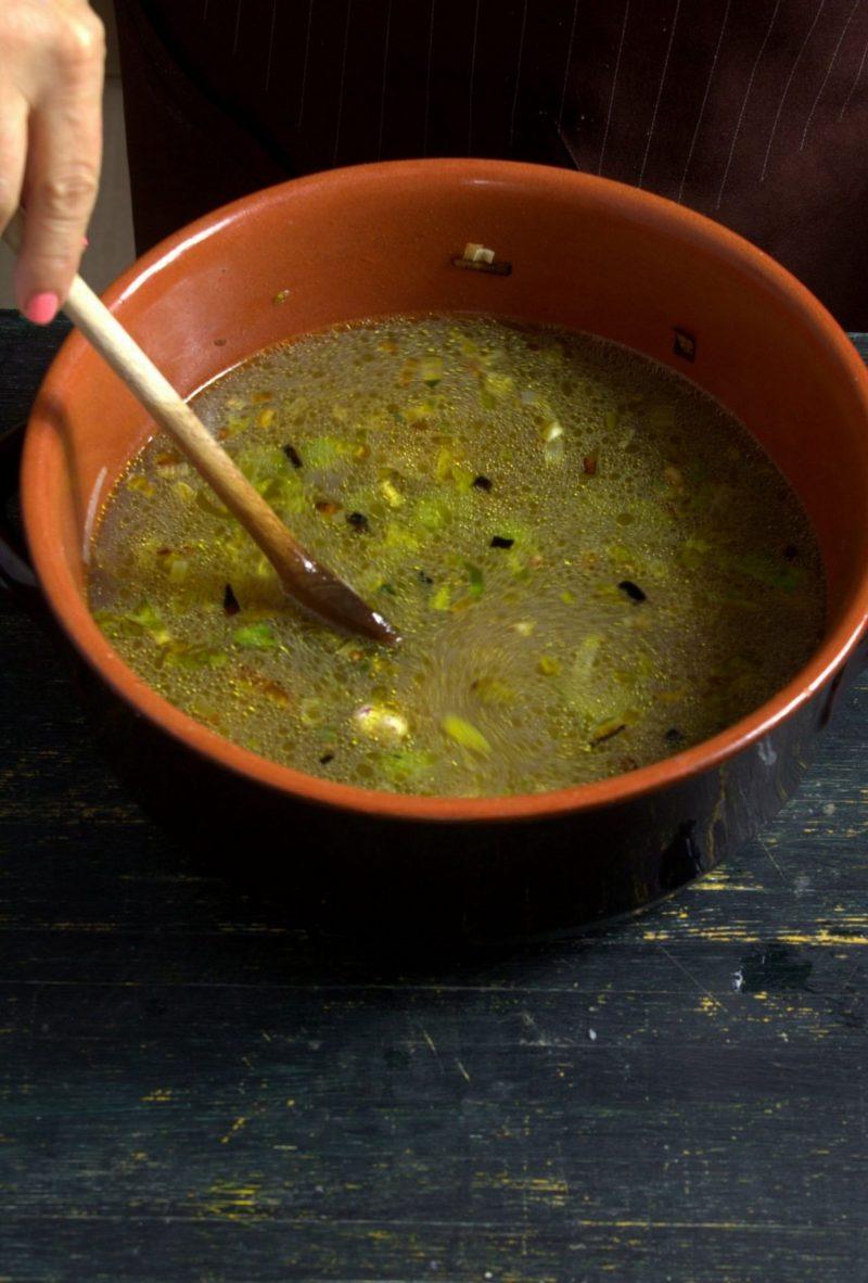 zuppa di baccalà e fagioli preparazione