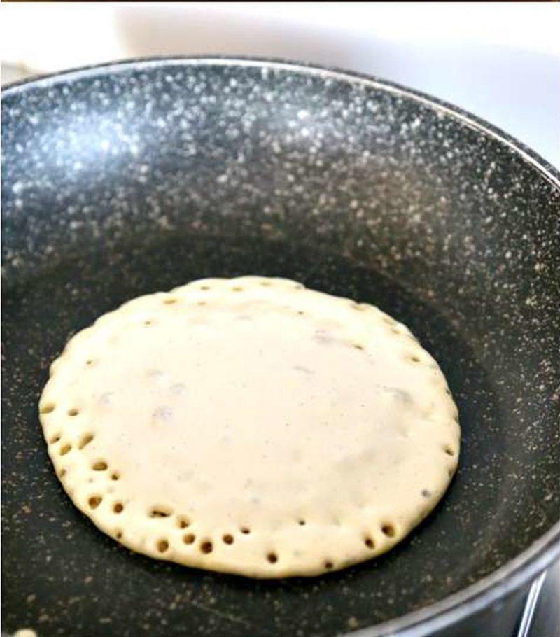 pancake di quinoa cottura