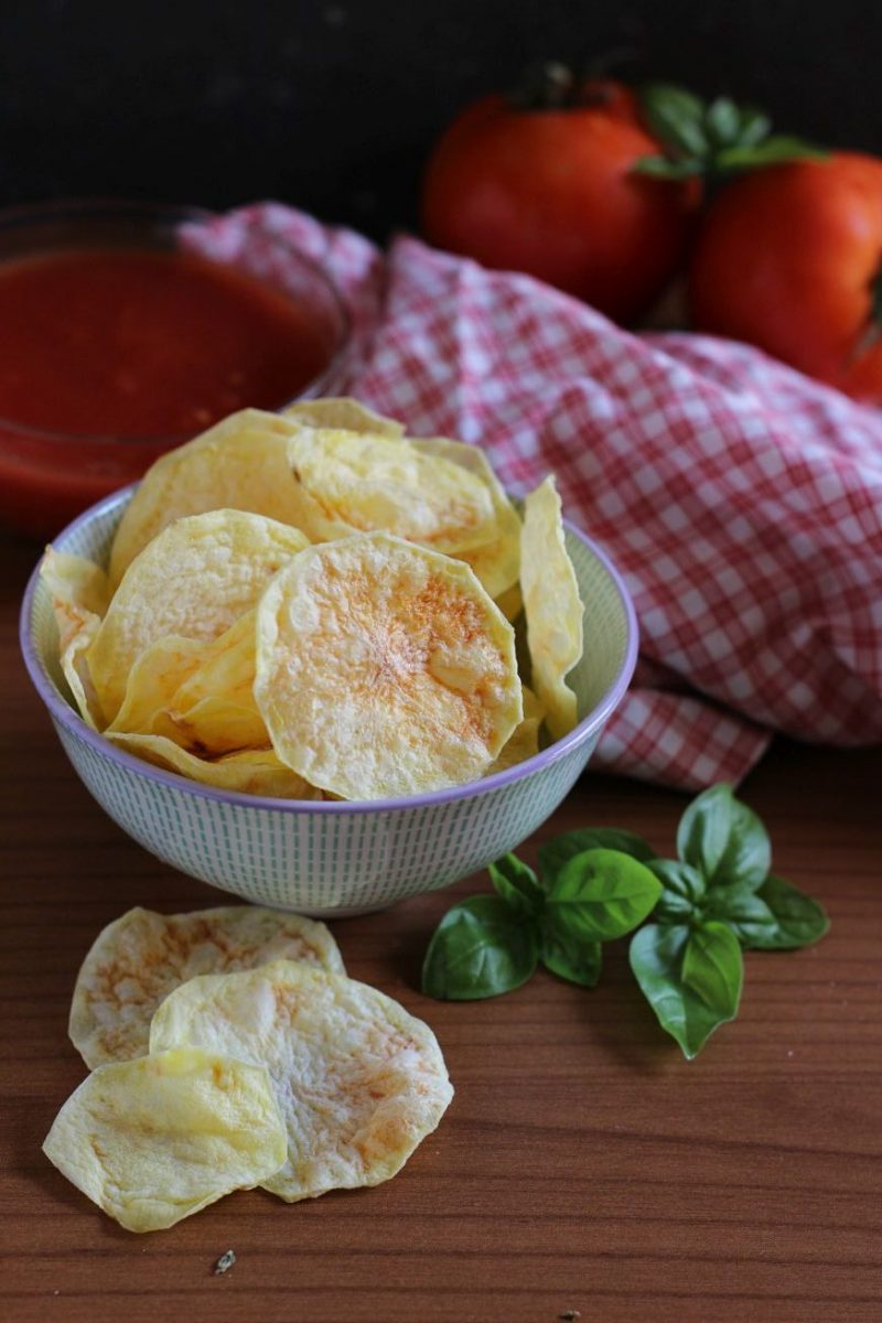 patate light al microonde chips