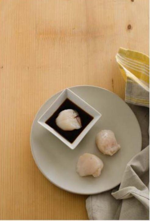 capesante marinate nella salsa di soia