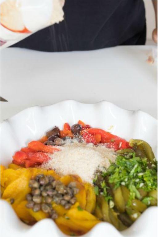 peperoni in teglia per la gratinatura