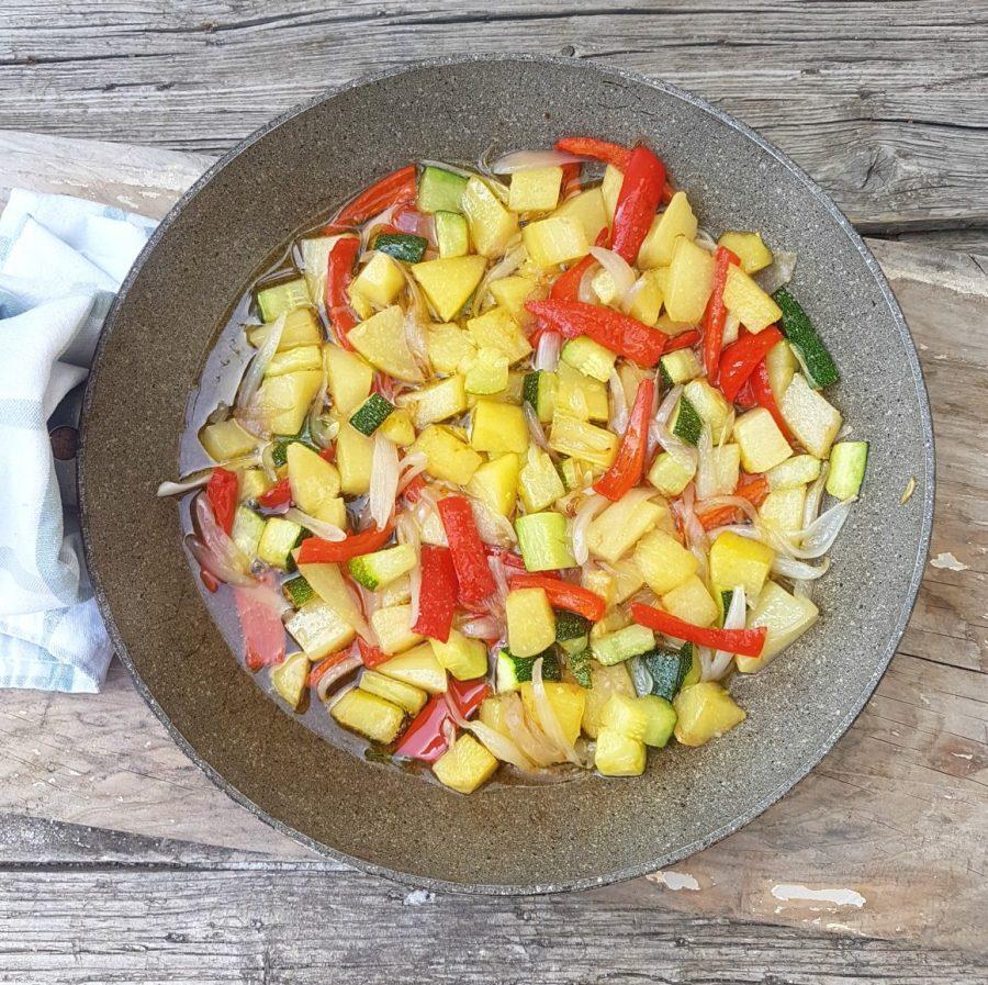 verdure cotte in padella